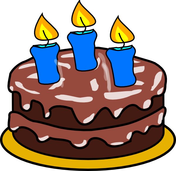 600x585 Clipart Birthday Cake 3 Candles With Clip Art At Clker Com Vector