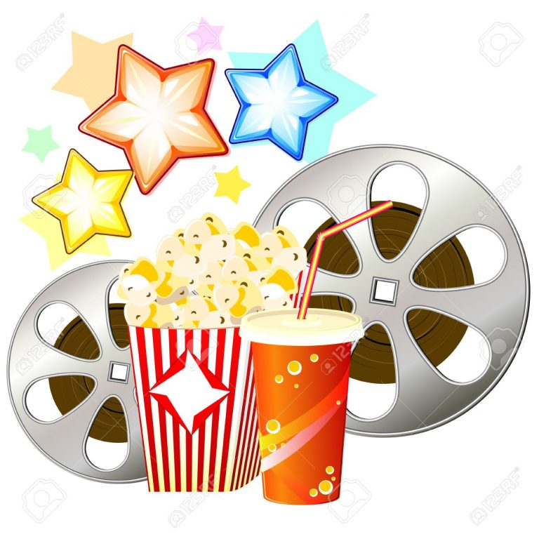 768x768 Clipart Movies And Popcorn Drink Clipart Popcorn 3