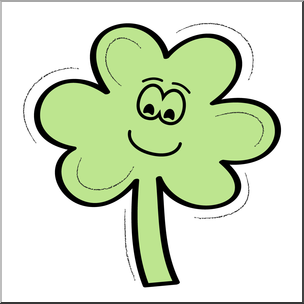 304x304 Clip Art Three Leaf Clover Smiley Color 2 I Abcteach