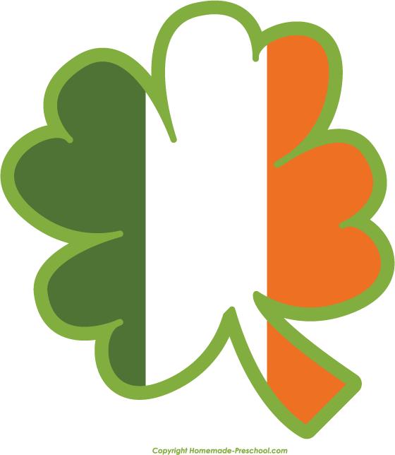 560x644 Irish Clover Clipart