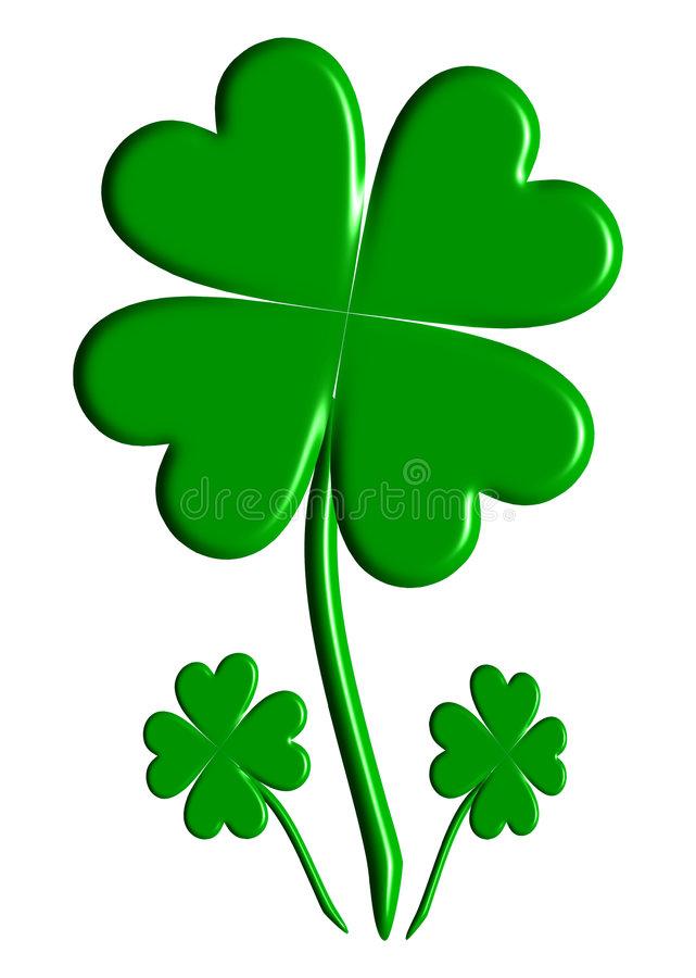 641x900 Perfect Design Lucky Four Leaf Clover Clip Art Three Clovers Stock