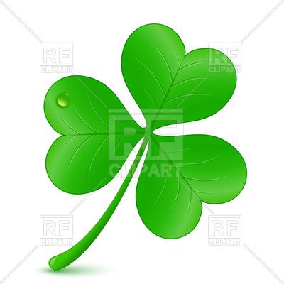 400x400 Three Leaf Clover, St. Patrick's Day Symbol Royalty Free Vector