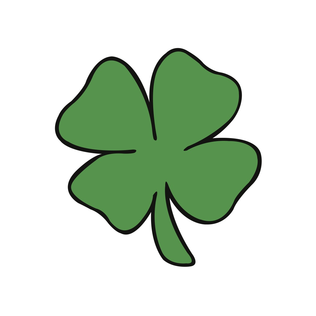 1050x1050 4 Leaf Clover Four Leaf Clover Clipart 3