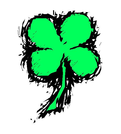 490x542 4 Leaf Clover Free Clover Clipart Holiday Stpatrick Clip Art 4