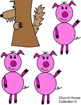 284x366 Three Little Pigs And The Big Bad Wolf Lesson