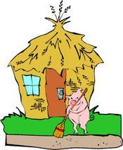 175x212 Three Little Pigs Book Clipart