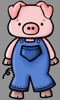 209x350 Three Little Pigs Clip Art By Whimsy Workshop Teaching Tpt