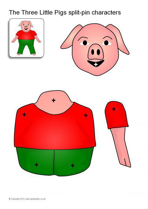 480x679 Three Little Pigs Teaching Resources Amp Story Sack Printables