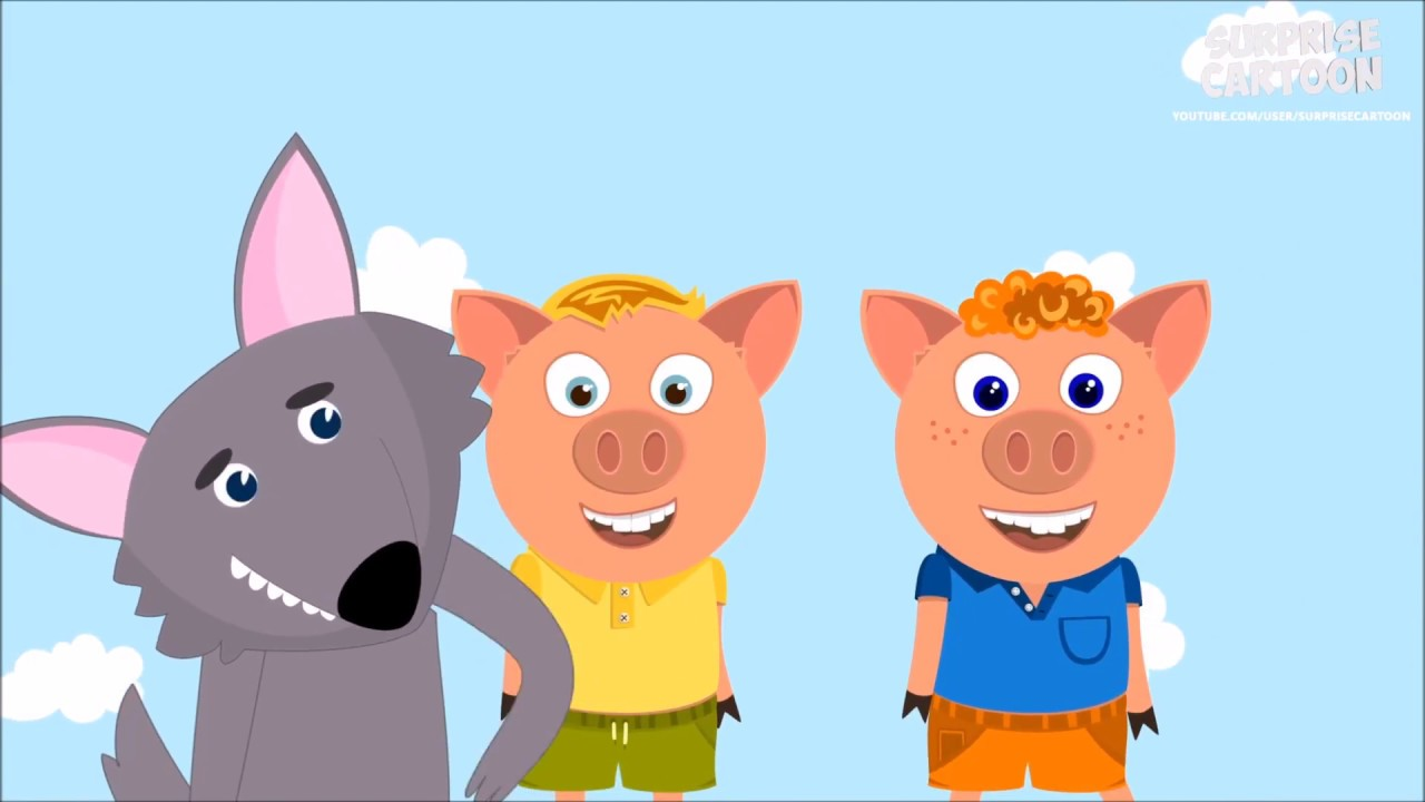1280x720 Three Little Pigs And Big Bad Wolf Watermelon Skate Challenge