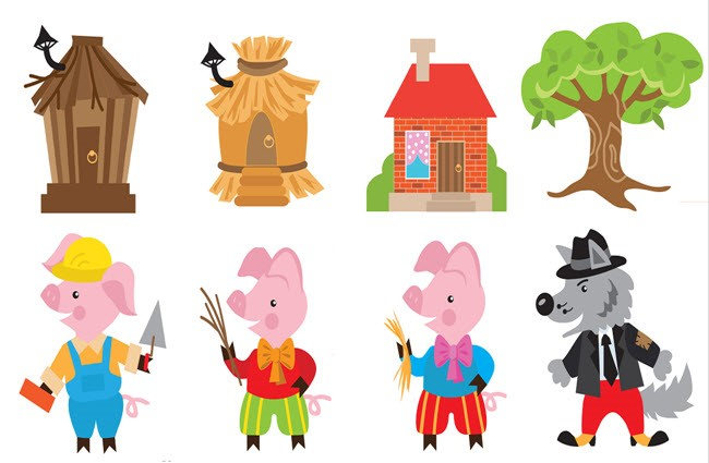 3 little pigs clipart at getdrawings com free for personal use 3 rh getdrawings com three little pigs clipart black and white 3 little pigs clipart black and white