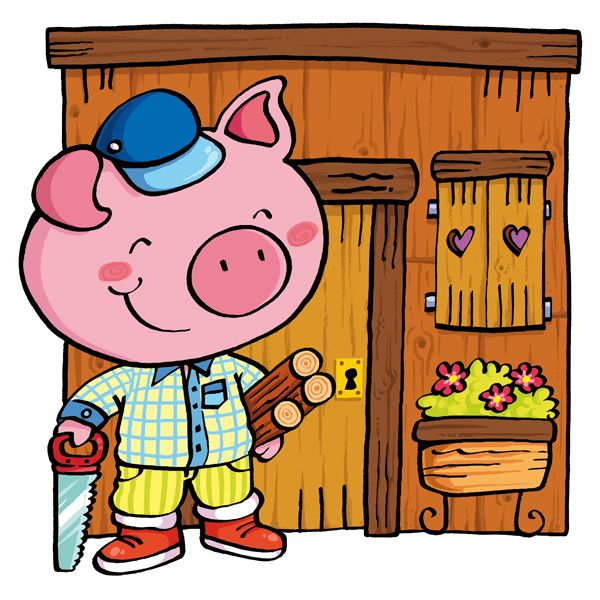 600x600 Characters From The Three Little Pigs Story. Form Puzzles