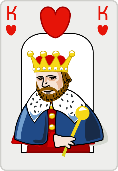 414x597 King Of Hearts Clip Art
