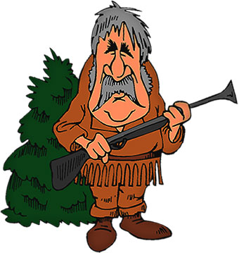340x359 Mountain Man Clipart