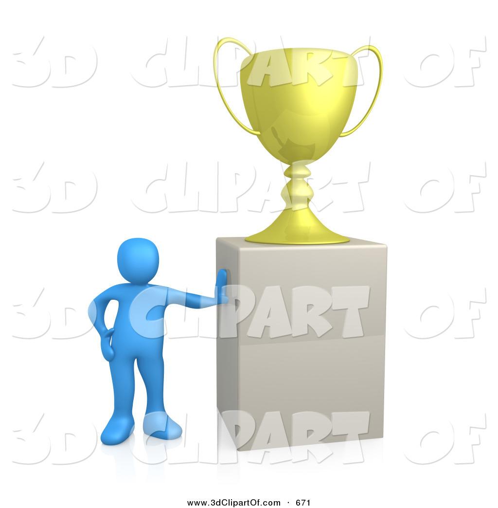 1024x1044 3d Clip Art Of A Winning Blue Clipart Panda