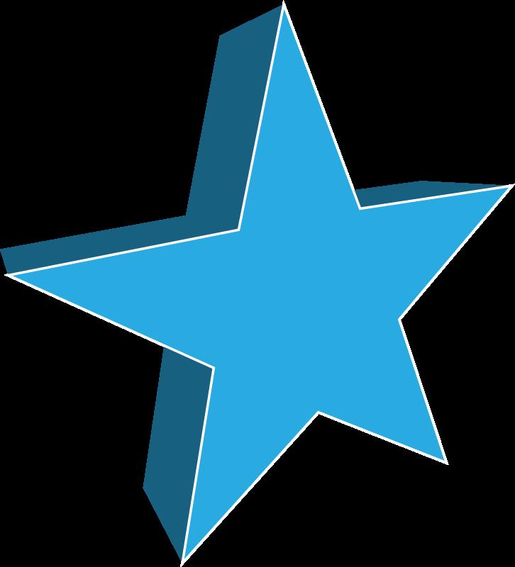 726x800 3d Star Clipart Outline