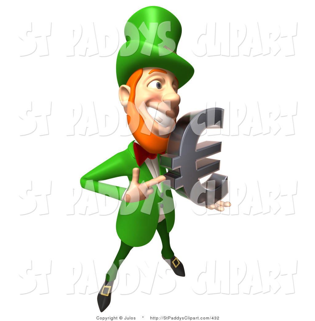 1024x1044 Vector Clip Art Of A Friendly 3d Irish Leprechaun Man Character