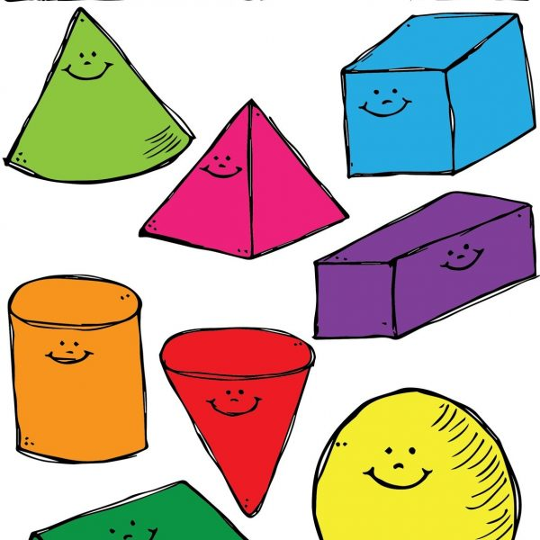 600x600 3d Shapes Clipart Intended For 3d Shapes Clip Art