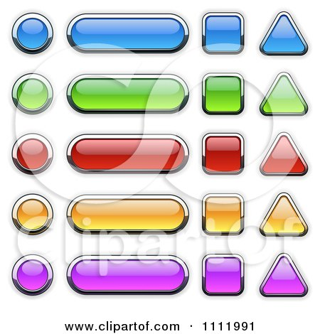 450x470 Clipart 3d Colorful Chrome Outlined Glass Icons In Different
