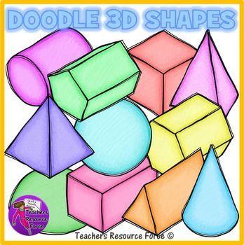 348x350 Doodle 3d Shapes Clip Art Clipart 3d Shapes, Doodles And Clip Art