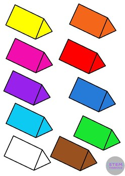 248x350 3d Shapes Clip Art Illustrations 7 Shapes In 10 Colors By Stemthinking