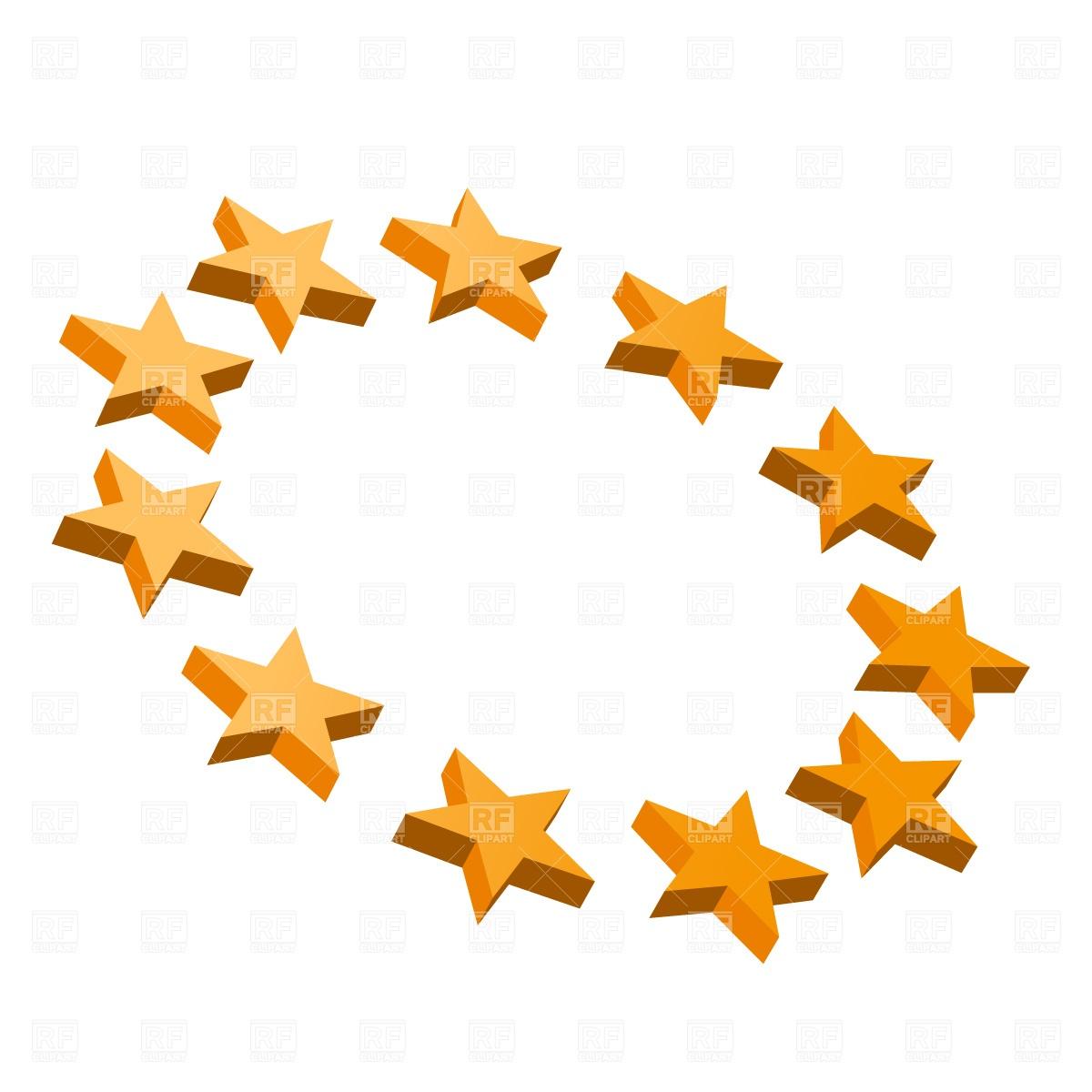 1200x1200 Euro Stars Circle Free Download Vector Clip Art Image