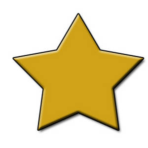 300x300 Free Clipart Picture Of A 3d Gold Star