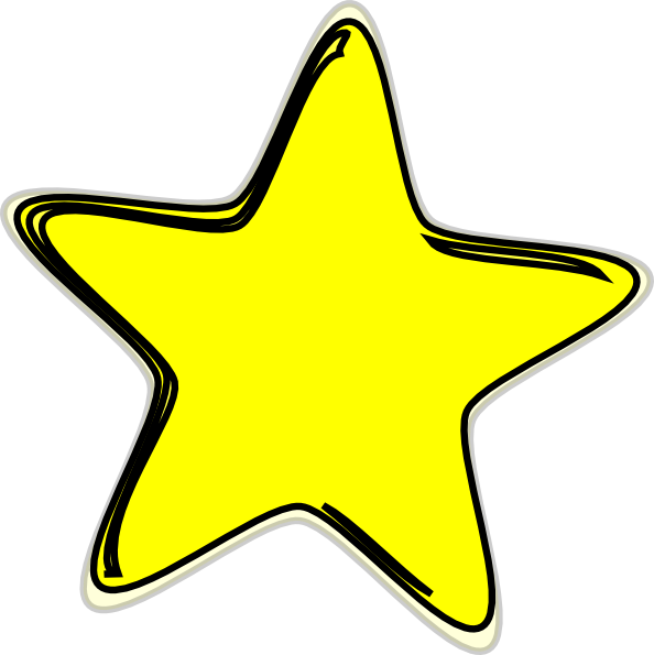 594x595 Collection Of Yellow Clipart Star High Quality, Free