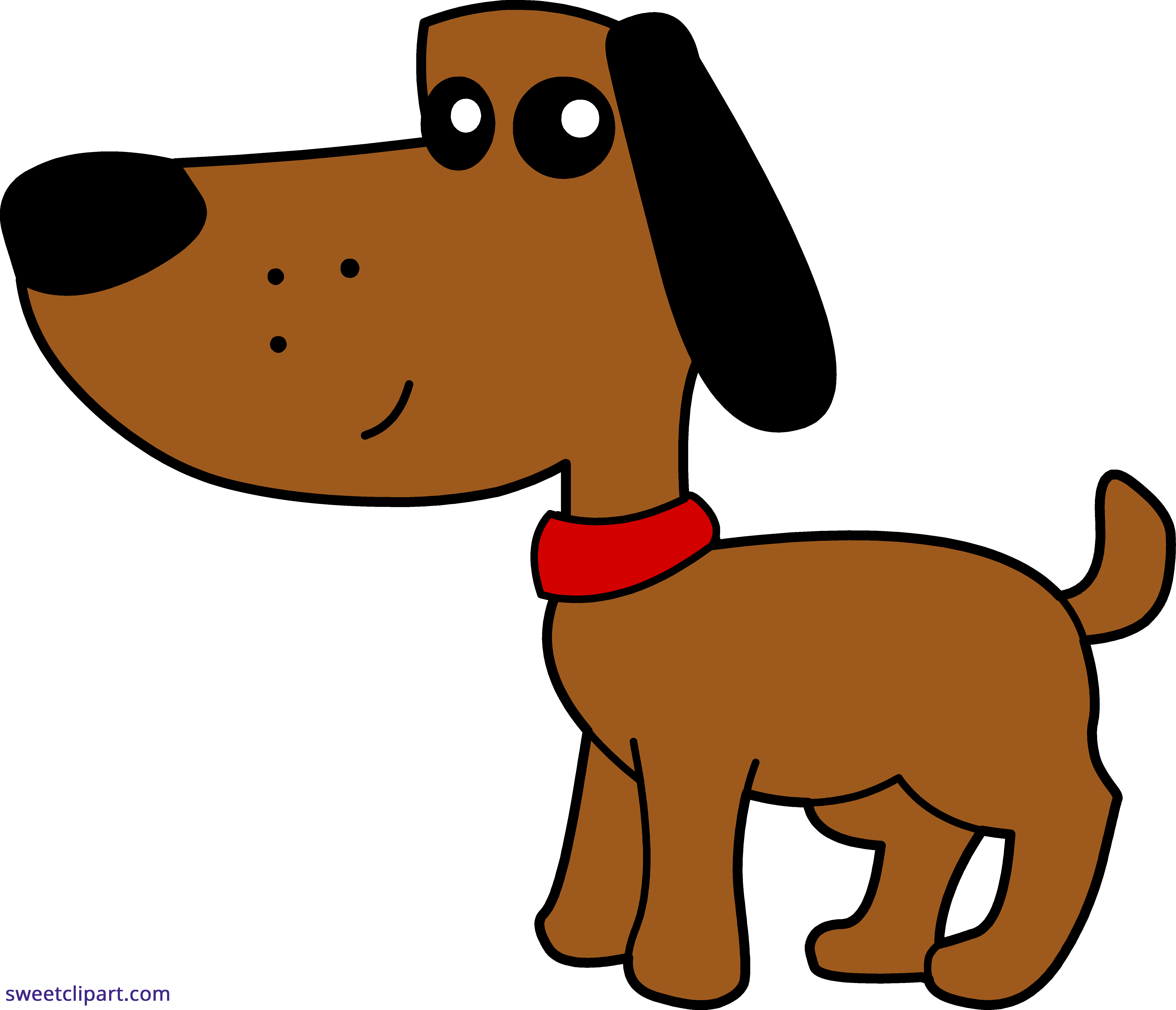 5933x5095 Brown Dog 4 Clipart
