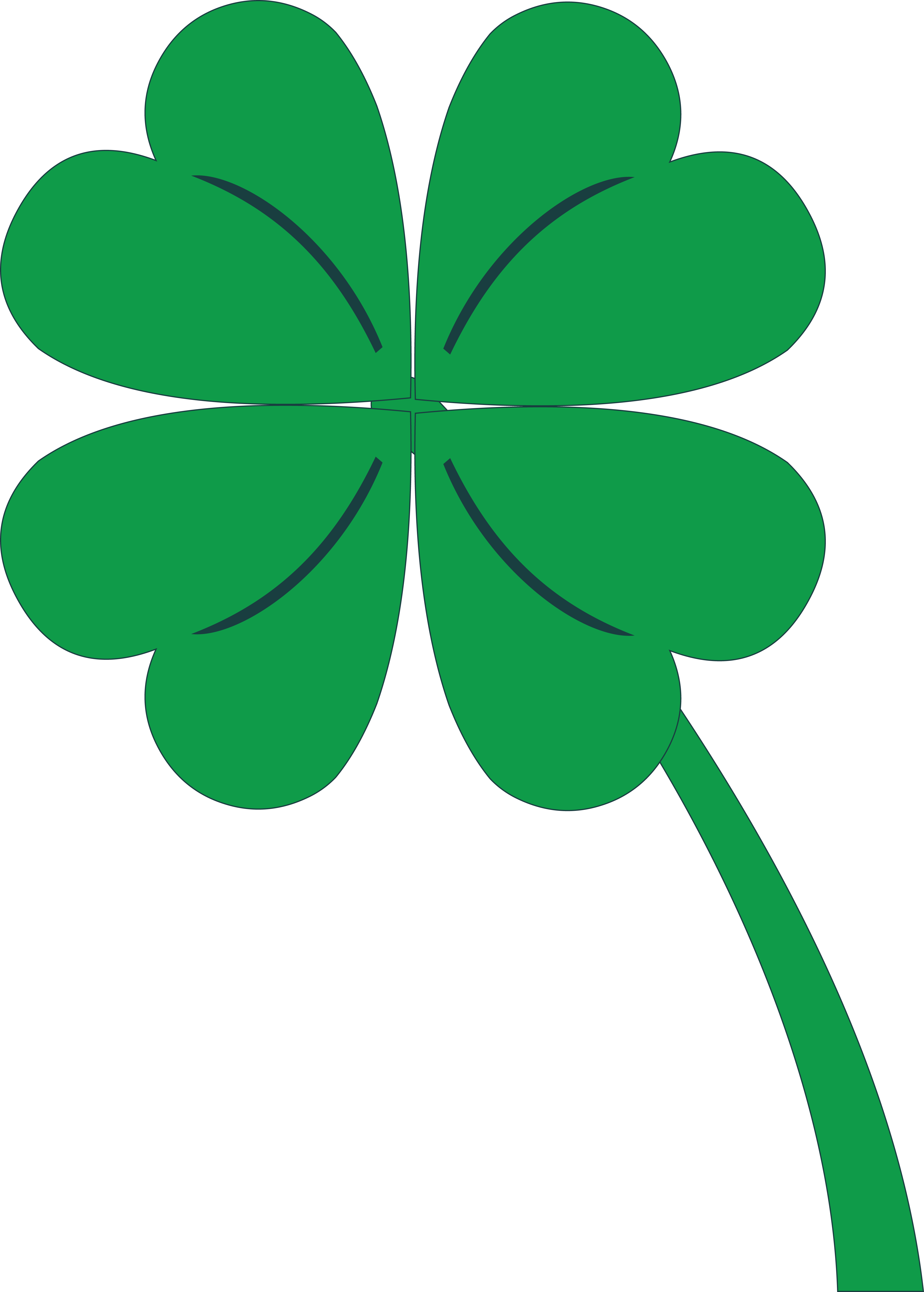 image about Printable 4 H Clover named Clover Clipart at  Absolutely free for individual retain the services of