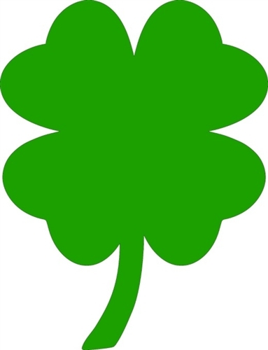 383x500 Easily 4 Leaf Clovers Pictures Clover Unfinished Cutout Wooden