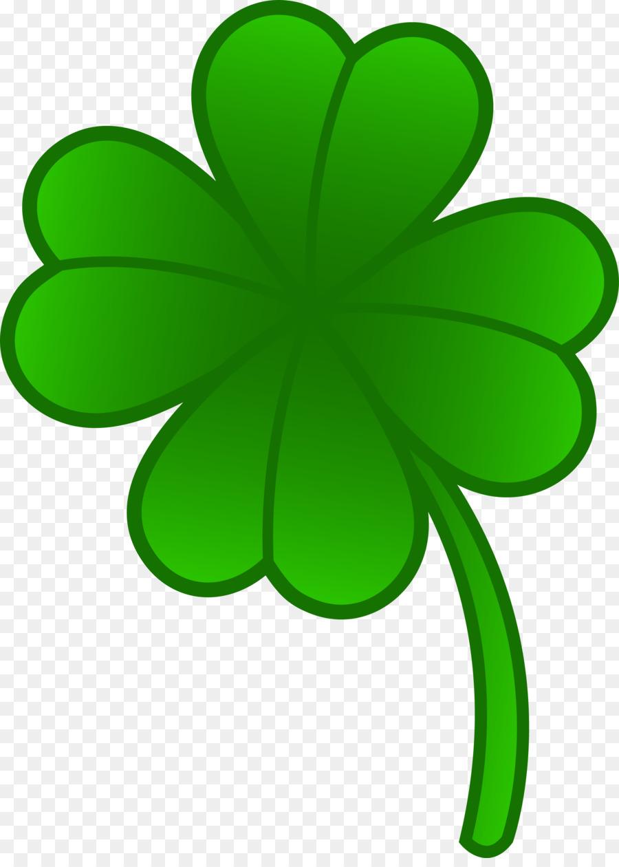 900x1260 Four Leaf Clover Shamrock Saint Patrick's Day Clip Art