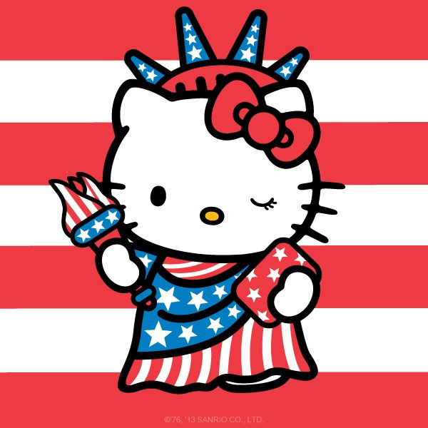 600x600 Hello Kitty 4th Of July Coloring Pages