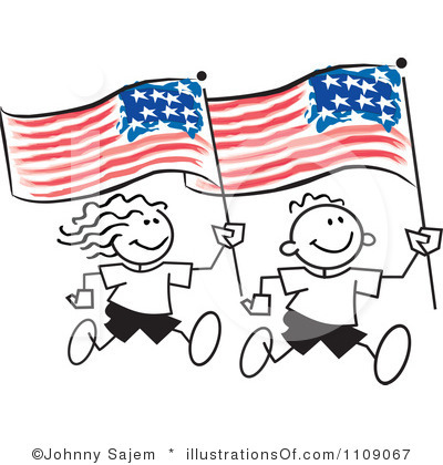 400x420 4th Of July Black And White Clipart