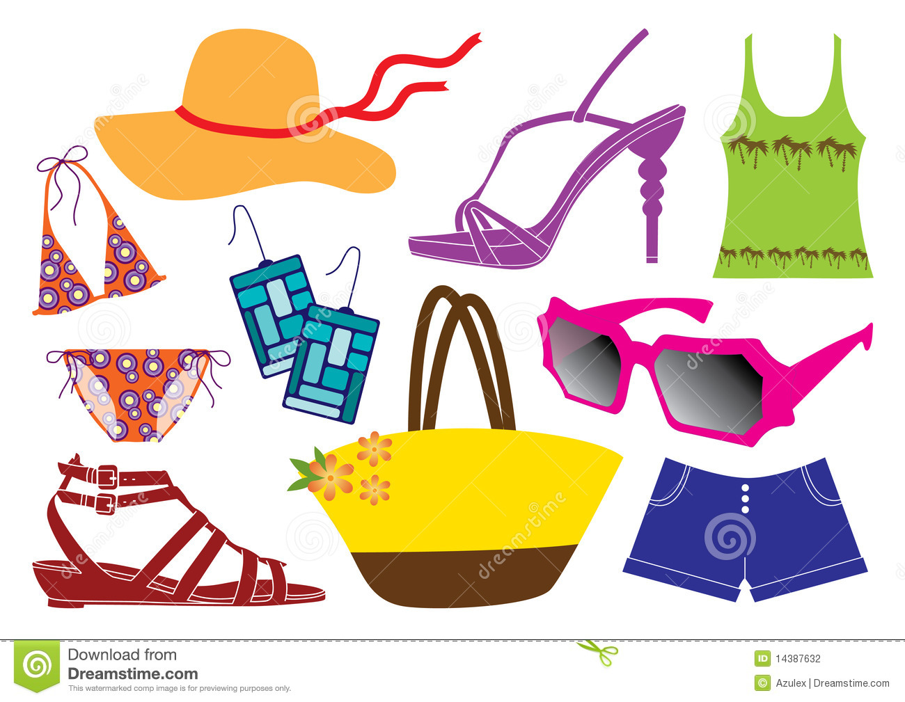 1300x1009 Summer Clothes Clipart For Kids