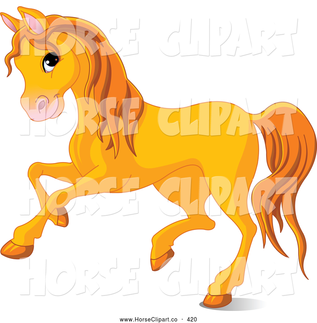 1024x1044 Clip Art Of A Cute Orange Horse Running To The Left By Pushkin