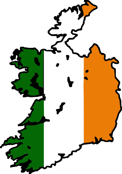 420x597 Ireland Clipart Ireland Flag Map Clip Art