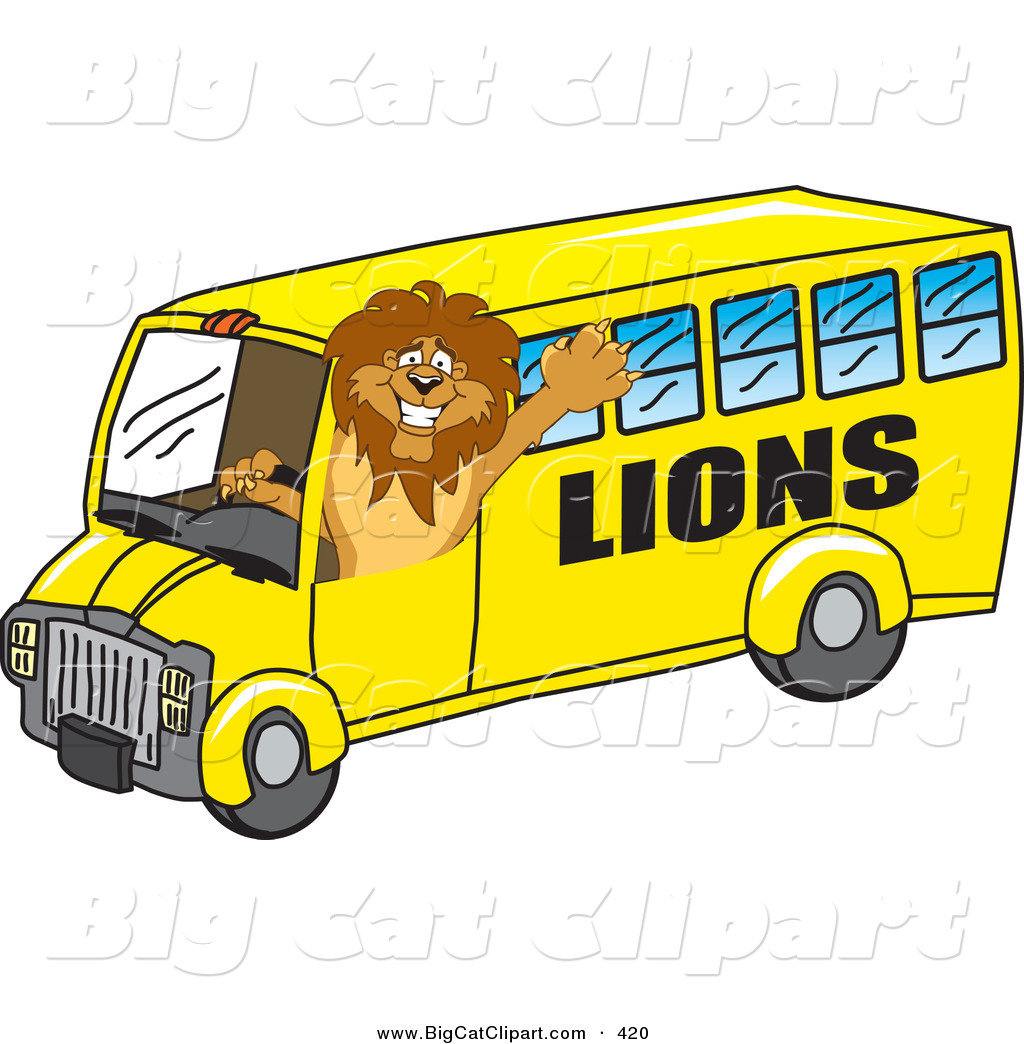 1024x1044 Big Cat Cartoon Vector Clipart Of A Lion Character Mascot School