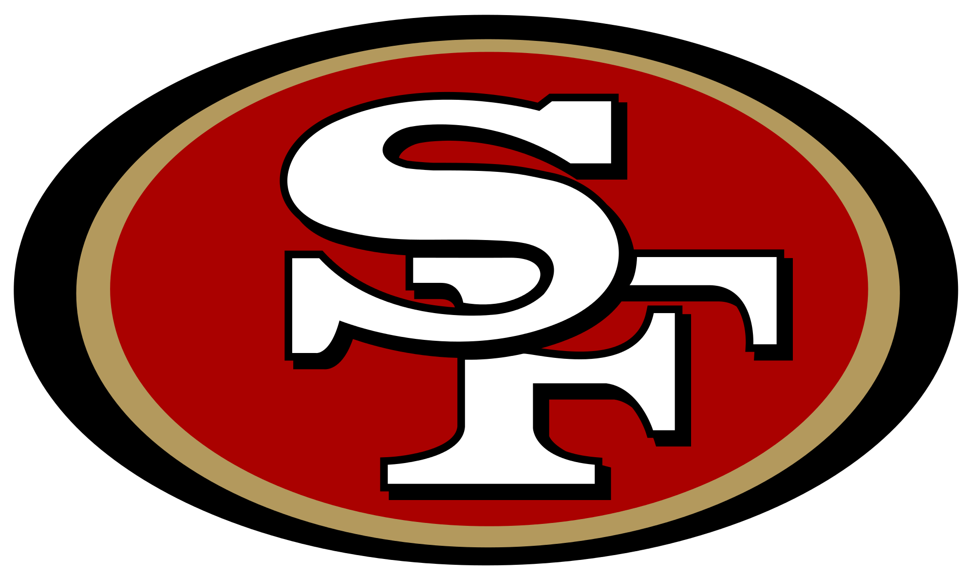 2000x1183 San Francisco 49ers Logo Transparent Png