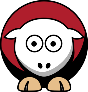 285x298 Sheep 4 Toned San Francisco 49ers Team Colors Clip Art