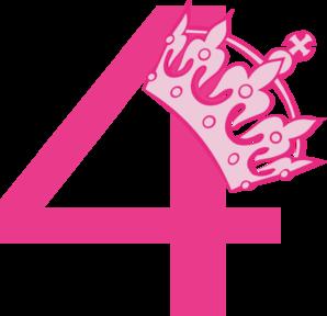 298x288 4th Birthday Pink Tiara Clip Art