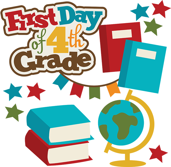 648x635 First Day Of 4th Grade Cute Files Svg File