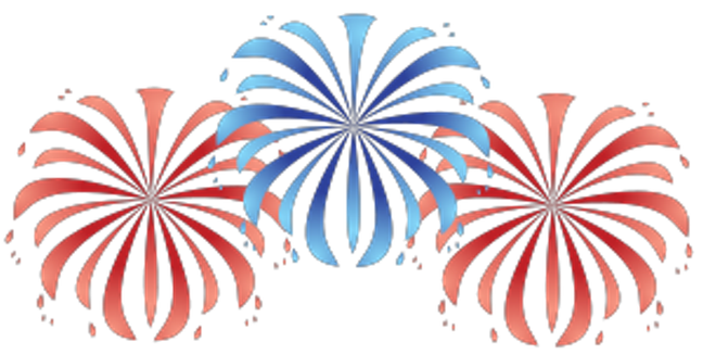 648x327 4th Of July Fireworks Clipart Group