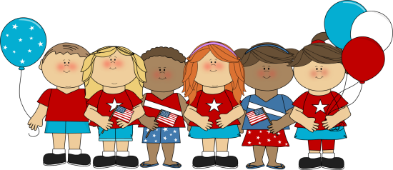 550x238 Patriotic Kids Clip Art