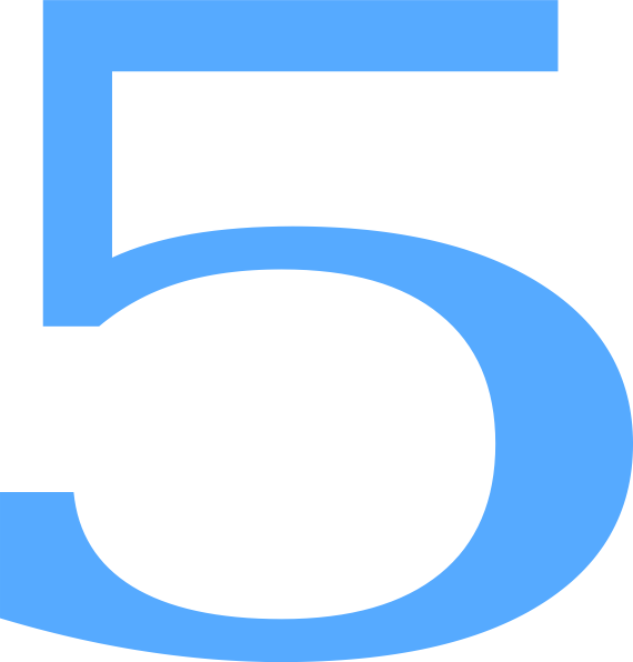 570x596 5 Countdown Clip Art