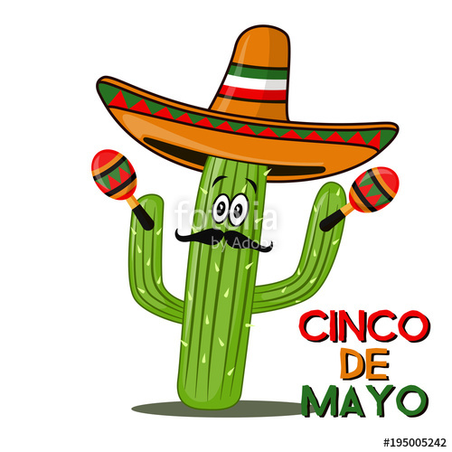 500x500 Cinco De Mayo Sombrero, Chili Pepper, Cactus And Maracas Festive