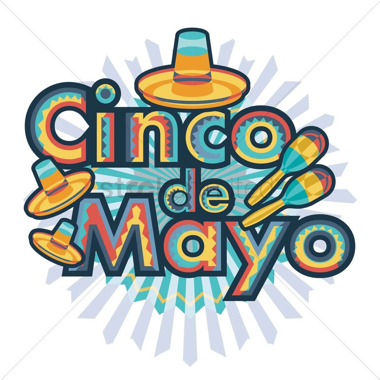 1300x1300 Cinco De Mayo Design Vector Image