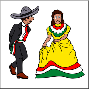 304x304 Clip Art Kids Cinco De Mayo Dancers Color I Abcteach
