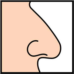 304x304 Clip Art Senses 1 Smell Color I Abcteach