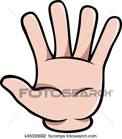 411x470 Five Finger Clipart