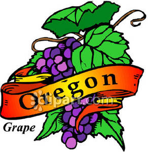 292x300 State Flower Of Oregon, Purple Oregon Grapes Royalty Free Clipart
